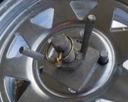 Spare wheel bracket wingnut